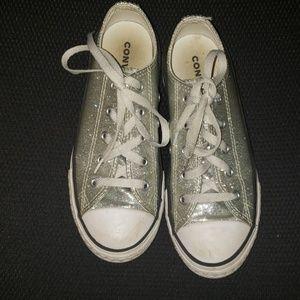 Converse Silver Glitter